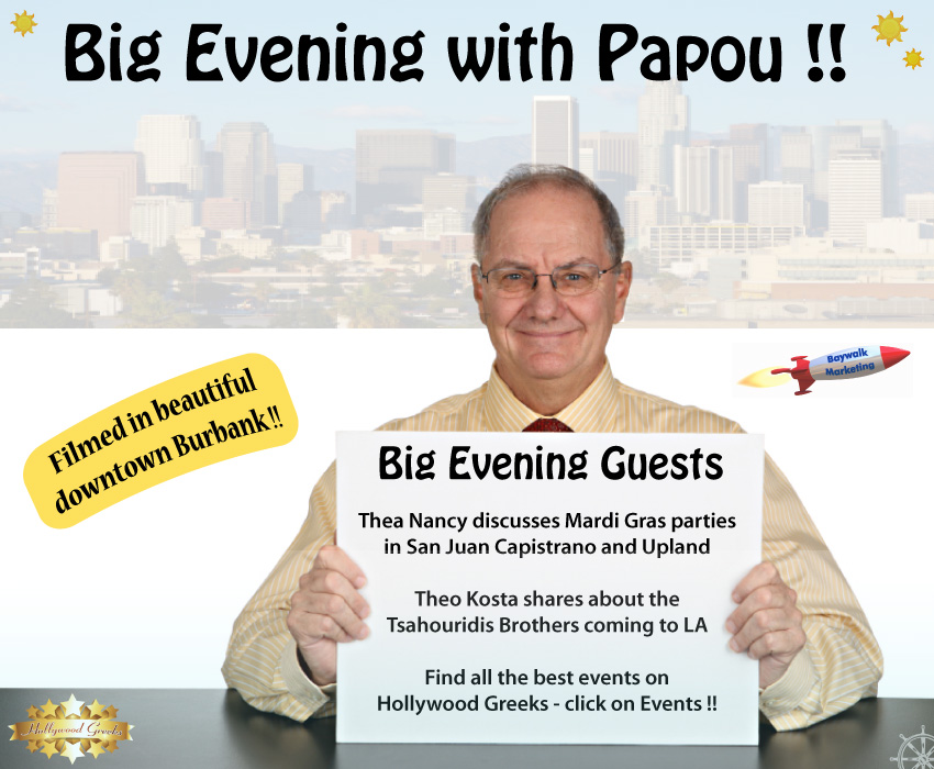 [Papou takes over late night television!]