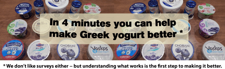 [Hellenic Dining - Greek Yogurt Survey]