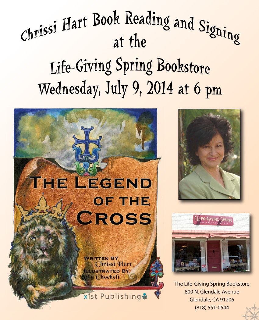 [Legend of the Cross book signing at Life-Giving Spring Bookstore!]
