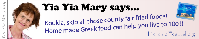 [Yia Yia Mary says home made Greek food can help you live to 100!]